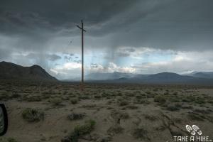 Starkregen und Hagel vor dem Death Valley