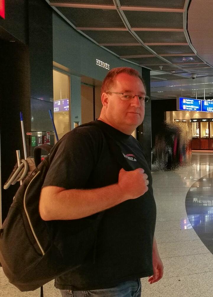 Am Frankfurter Flughafen - Der Thomas