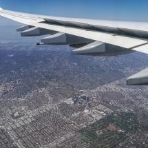 Der Flug - Anflug über L.A.