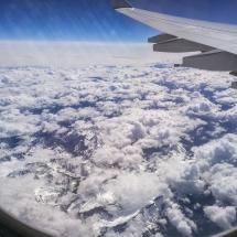 Der Flug - direkt über Banff Nationalpark