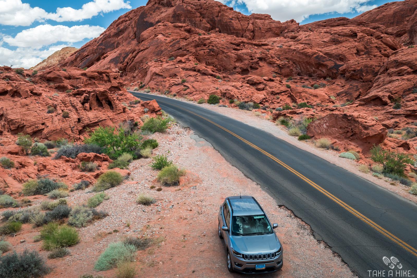 Valley Of Fire - Mein Auto von oben