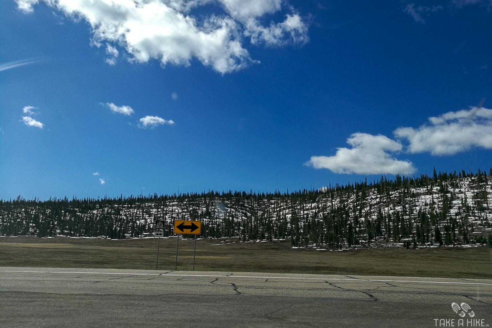 Schnee vor dem Cedar Breaks NM