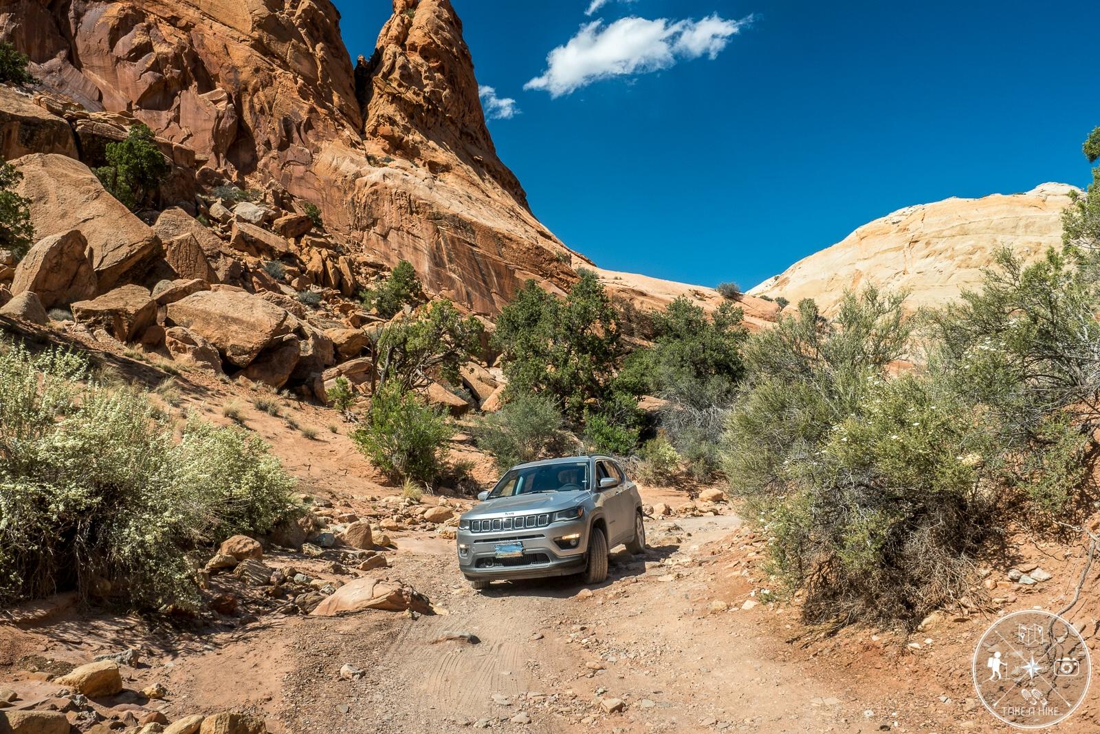 Eine etwas leichtere Stelle - Upper Muley Twist Canyon