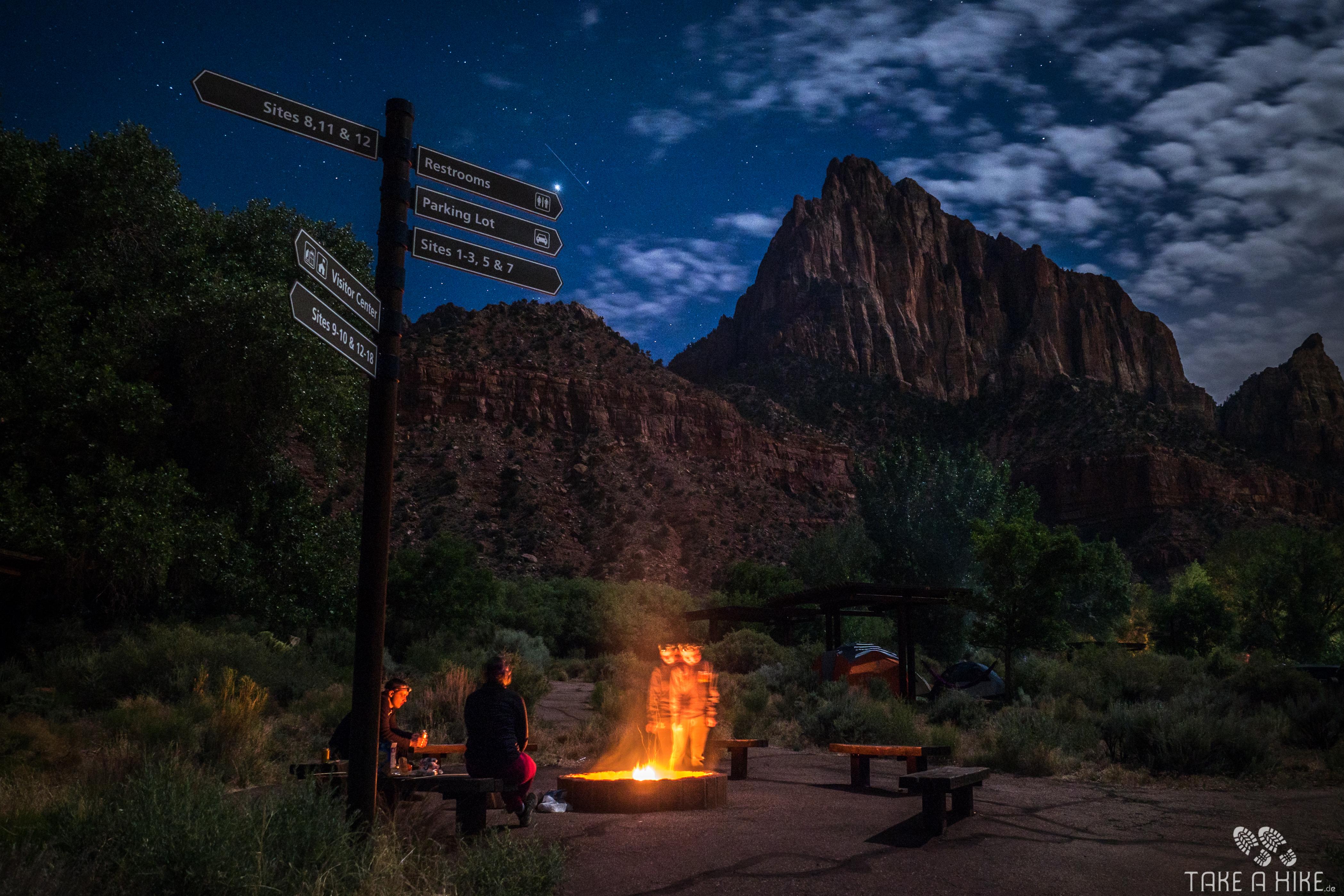 Fotoparade 01/2018: Nachts auf dem Watchman Campground im Zion NP
